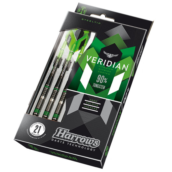 Harroows Steeldart Veridian 90%