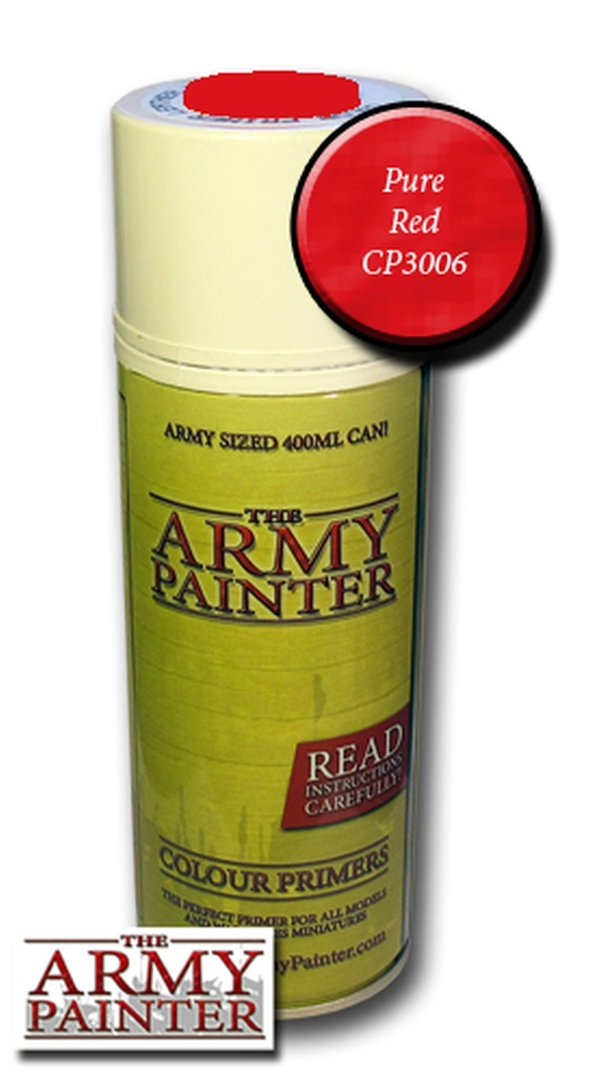 Army Painter Primer: Pure Red Spray