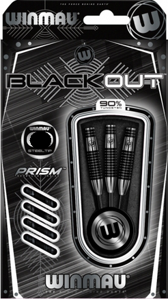 Winmau Steeldart Blackout Tropfen, 90% Tungsten