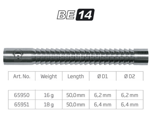 BULL'S Softdart Barrel BE14, 80% Tungsten