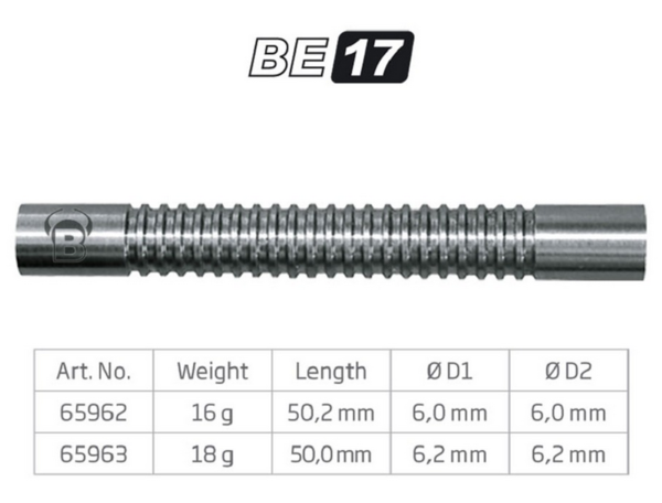 BULL'S Softdart Barrel BE17, 80% Tungsten