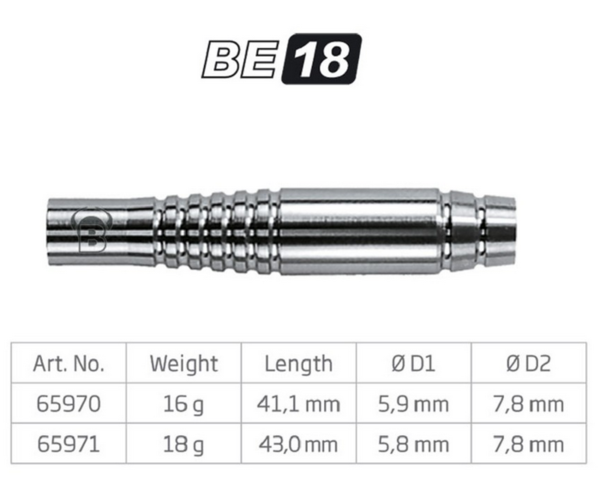 BULL'S Softdart Barrel BE18, 80% Tungsten