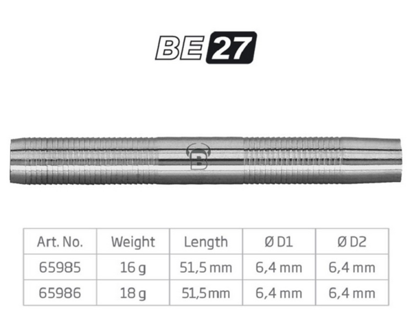 BULL'S Softdart Barrel BE27, 80% Tungsten