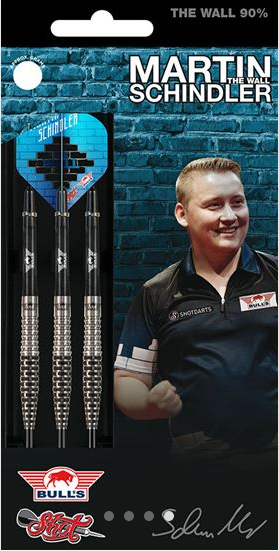 "Bull's / Shot Steeldart Martin Schindler ""The Wall"", 90% Tungsten"